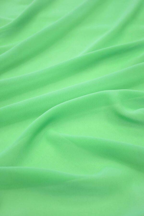 Креп шифон салатовый (2247) - Фото 6