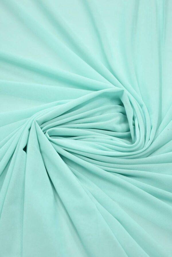 Трикотаж-сетка светлая бирюза (2266) - Фото 8