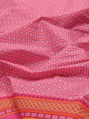 Плащевая купон розовая в мелкий квадратик (3177) - Фото 13