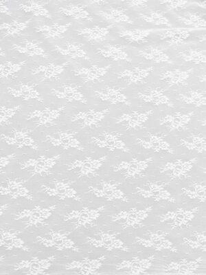 Гипюр стрейч цветочный узор молочно-белый (3613) - Фото 17
