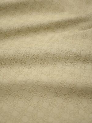 Хлопок с вышивкой бежевый геометрический узор (3755) - Фото 19