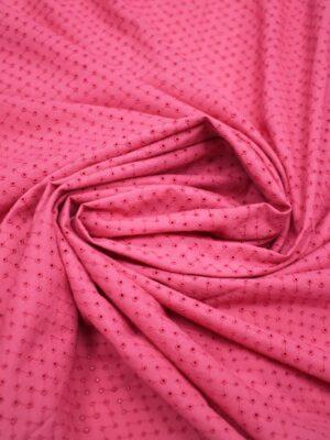 хлопок с вышивкой мелкий горох на розовом (3756) - Фото 22