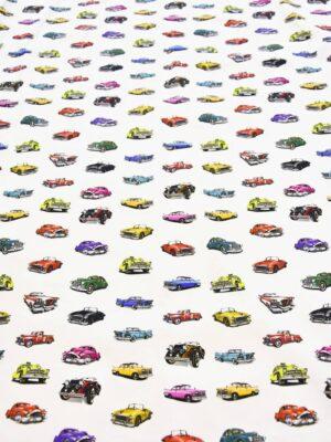 Хлопок стрейч автомобили на белом (4097) - Фото 15