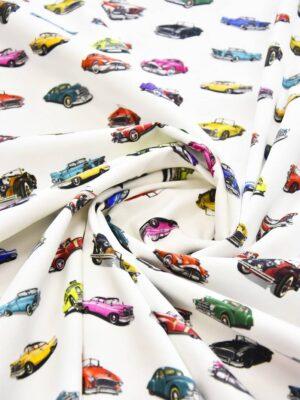 Хлопок стрейч автомобили на белом (4097) - Фото 16