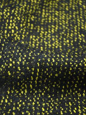 Твид шерсть желтый с черным меланж (4161) - Фото 15