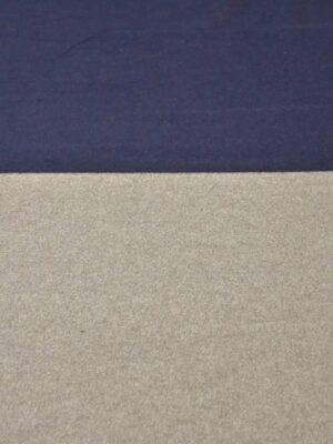 Кашемир шерсть купон двухцветный синий с бежевым (4168) - Фото 12