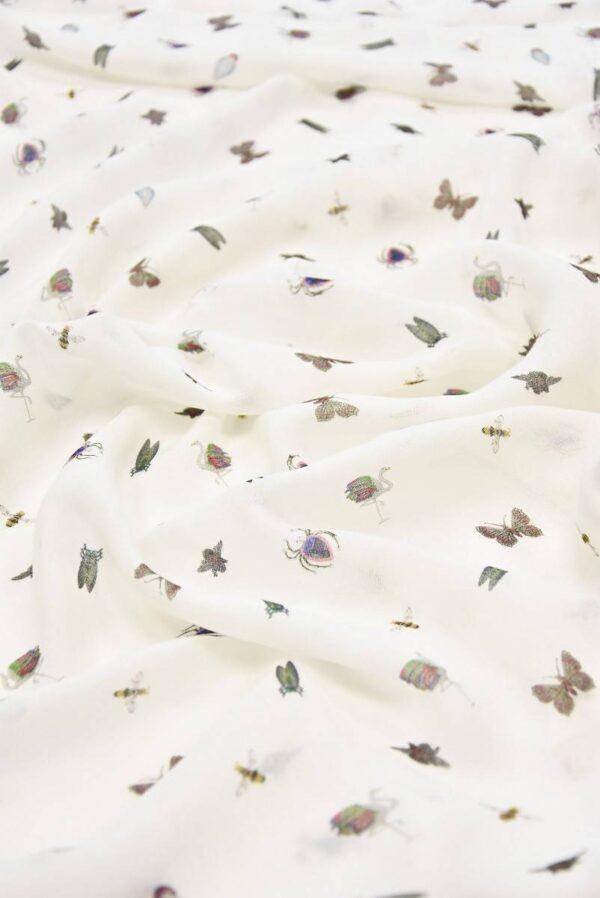 Марлевка вискоза жучки бабочки на молочном (4231) - Фото 6