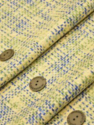 Твид шерсть желтый зеленый синий (4262) - Фото 11