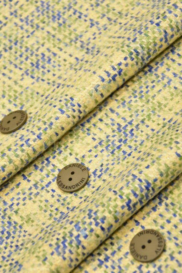 Твид шерсть желтый зеленый синий (4262) - Фото 6