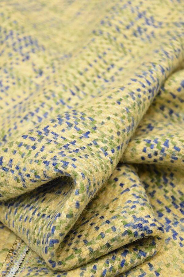 Твид шерсть желтый зеленый синий (4262) - Фото 8