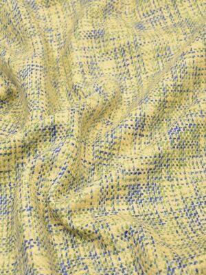 Твид шерсть желтый зеленый синий (4262) - Фото 12