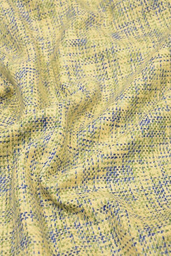 Твид шерсть желтый зеленый синий (4262) - Фото 7