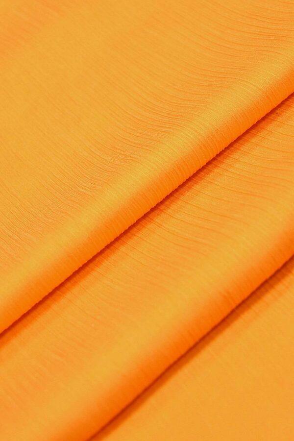 Крепон хлопок с шелком креш оранжевый (4297) - Фото 7