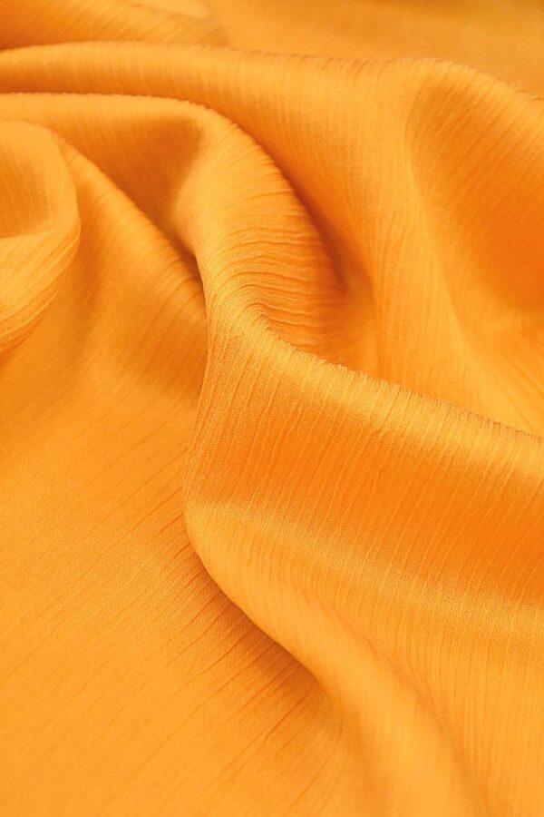 Крепон хлопок с шелком креш оранжевый (4297) - Фото 8