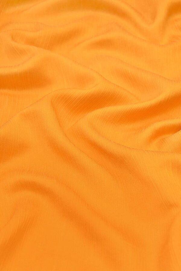 Крепон хлопок с шелком креш оранжевый (4297) - Фото 6