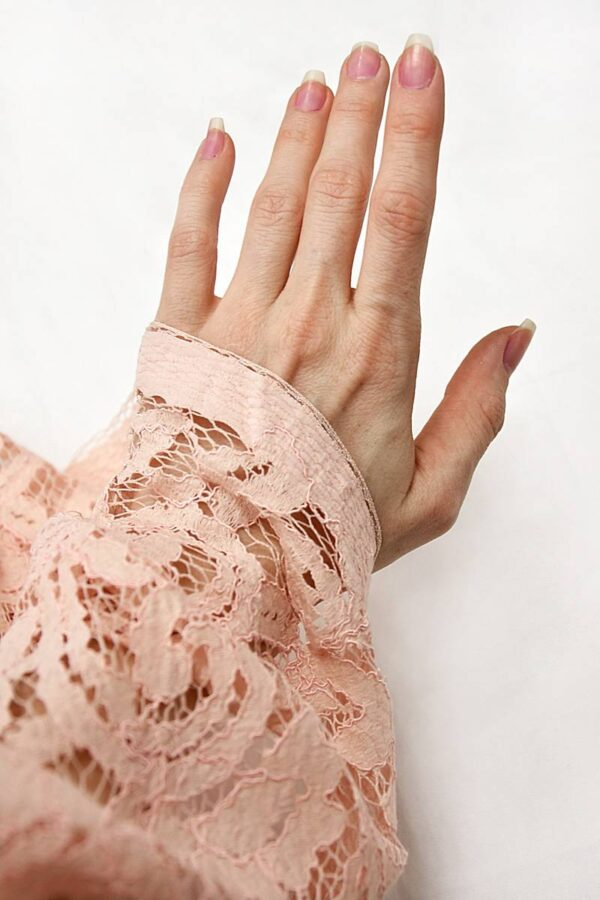 Кружево узор из завитков цвет нежно-розовый (4316) - Фото 9