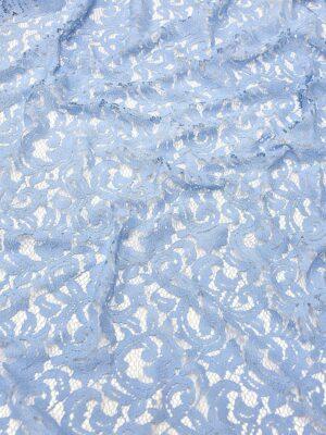 Кружево узор из завитков нежно-голубое (4317) - Фото 10