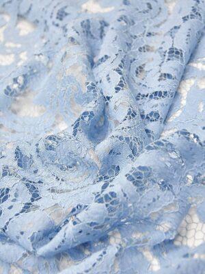 Кружево узор из завитков нежно-голубое (4317) - Фото 11