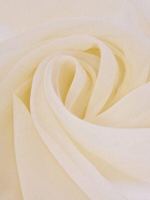 Органза шелк цвет ванильный (4369) - Фото 10