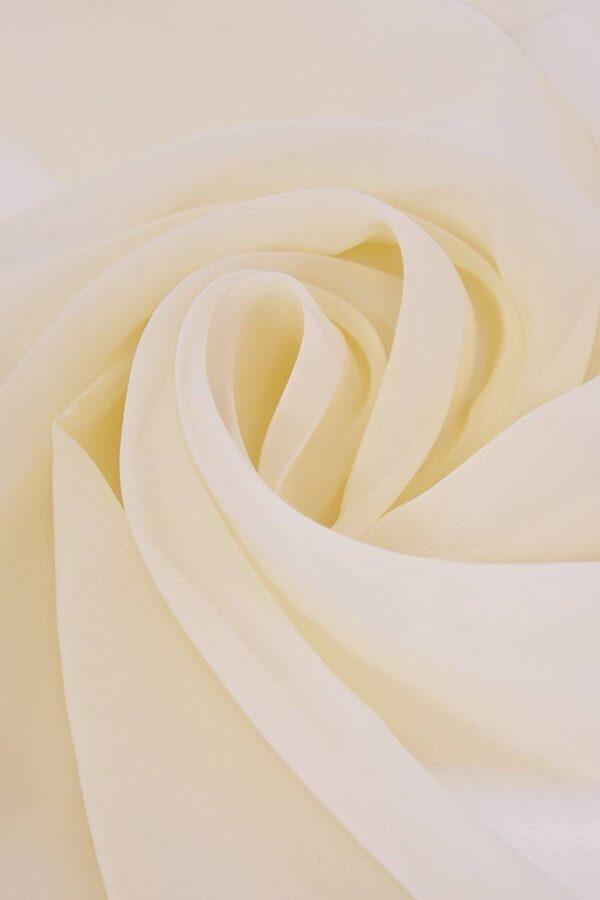 Органза шелк цвет ванильный (4369) - Фото 7