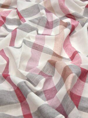 Лен геометрия в розовых серых персиковых оттенках (4372) - Фото 17