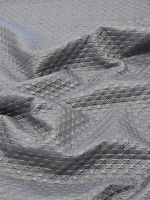 Курточная стеганая серая в мелкую куриную лапку (4830) - Фото 14