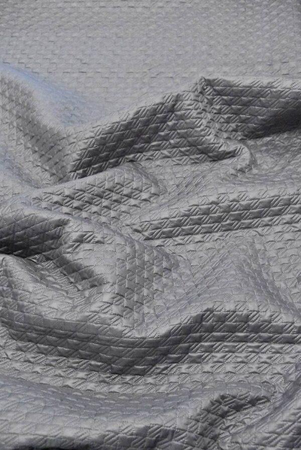 Курточная стеганая серая в мелкую куриную лапку (4830) - Фото 6
