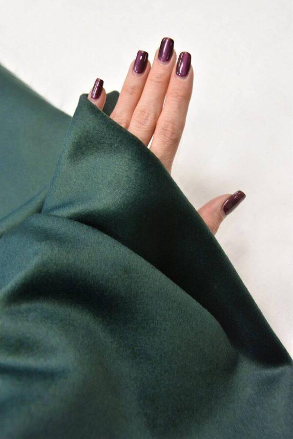 Пальтовый кашемир темно-зеленого оттенка (5493) - Фото 10