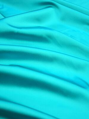 Атлас дюшес стрейч бирюзовый оттенок (4996) - Фото 18