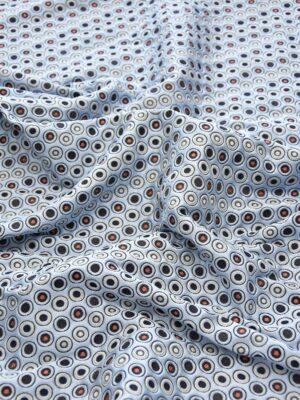 Жаккард голубой фон красный черный белый горох (5049) - Фото 12