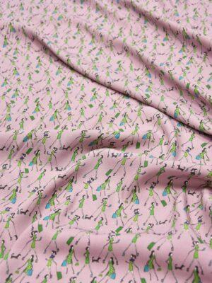 Креп вискоза девушки на пыльно-розовом фоне (5952) - Фото 17