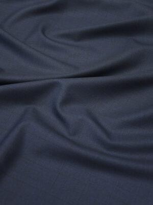 Костюмная шерсть стрейч темно-синяя в едва заметную клетку (5081) - Фото 11