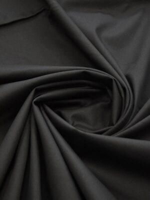 Хлопок стрейч костюмный черный (5095) - Фото 17