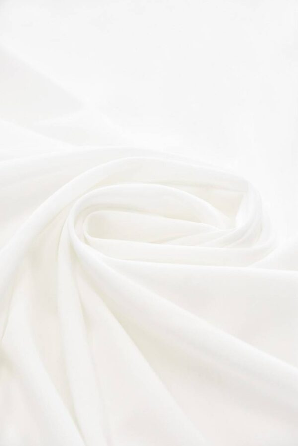 Креп тонкий плательный белый (5111) - Фото 7