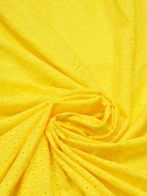 Шитье желтого оттенка в мелкий цветочек (5340) - Фото 18
