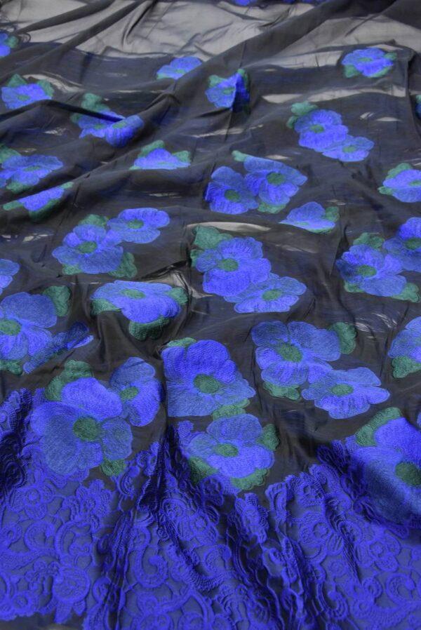 Органза с вышивкой цветы в трех расцветках (5551) - Фото 8