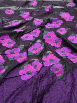 Органза с вышивкой цветы в трех расцветках (5551) - Фото 15