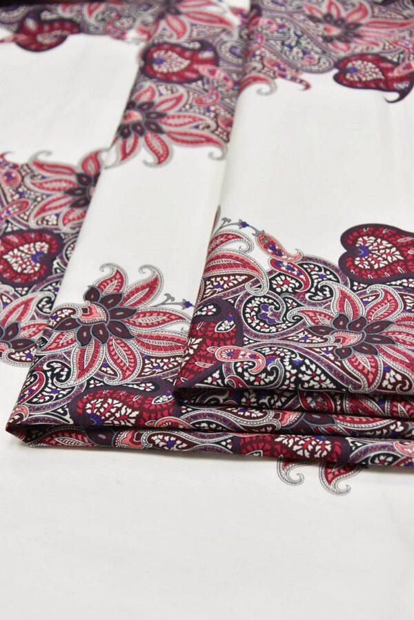 Хлопок с шелком Персидский кипарис кайма пейсли (5564) - Фото 8