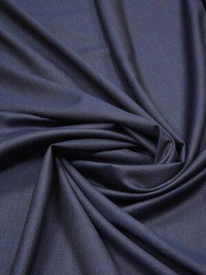 Костюмная шерсть серо-синяя в мелкий узор (5661) - Фото 14