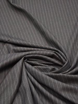Костюмная шерсть дымчатого оттенка в узкую полоску (5663) - Фото 12