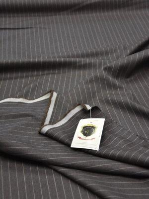 Костюмная шерсть дымчатого оттенка в узкую полоску (5663) - Фото 11
