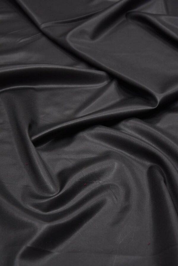 Костюмная шерсть с шелком черная глянцевая (5665) - Фото 6