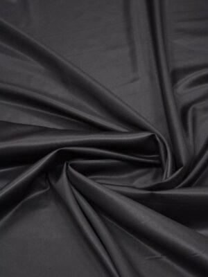 Костюмная шерсть с шелком черная глянцевая (5665) - Фото 11