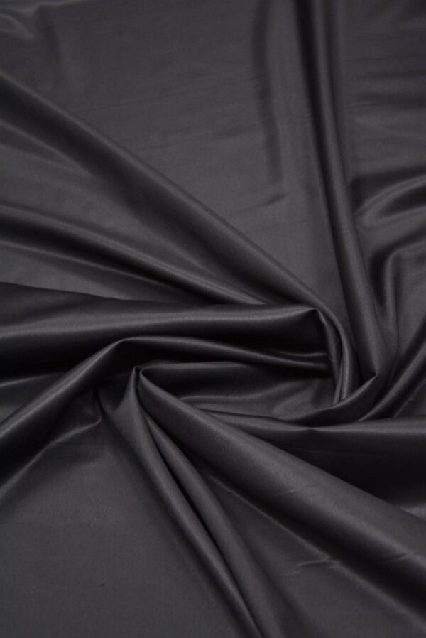 Костюмная шерсть с шелком черная глянцевая (5665) - Фото 7
