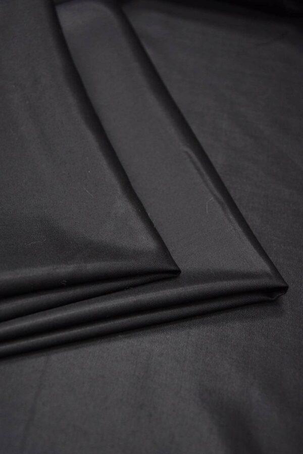 Костюмная шерсть с шелком черная глянцевая (5665) - Фото 8