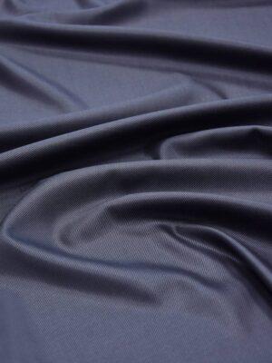 Костюмная шерсть темно-синяя в диагональный рубчик (5666) - Фото 18