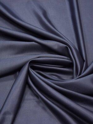 Костюмная шерсть темно-синяя в диагональный рубчик (5666) - Фото 19