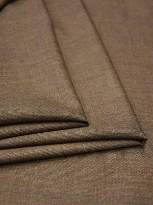 Костюмная шерсть коричневый меланж (5667) - Фото 14