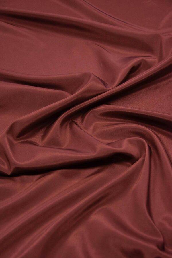 Подкладочная ткань стрейч бордовый оттенок (5732) - Фото 6