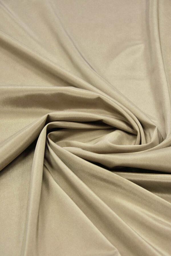 Подкладочная ткань стрейч оттенок теплый беж (5738) - Фото 7